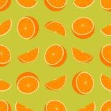 无缝橙色的模式 库存图片