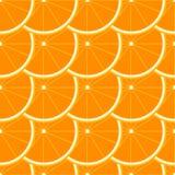无缝橙色的模式 图库摄影
