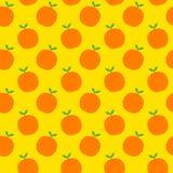 无缝橙色的模式 皇族释放例证