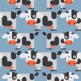 无缝母牛的模式 免版税图库摄影