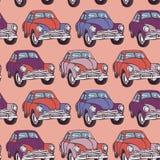 无缝汽车的模式 草图 桃红色,丁香,紫色 库存照片