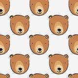 无缝熊逗人喜爱的模式 皇族释放例证
