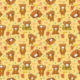 无缝熊逗人喜爱的模式 库存照片