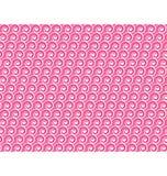 无缝爱的模式 白色心脏和波浪在桃红色 免版税库存照片