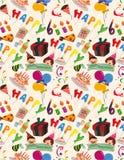 无缝生日的模式 免版税库存图片