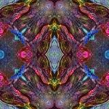 无缝的万花筒纹理或样式五颜六色的光谱4 库存图片