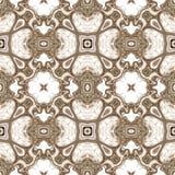 无缝的万花筒纹理或样式在白色2 库存照片