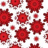无缝的万花筒花卉重复背景 库存图片