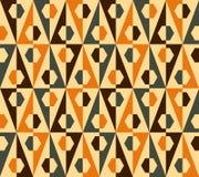 无缝的三角和六角形模式。 向量 库存例证