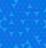 无缝的三角 美好的多角形纹理 几何蓝色pa 库存例证