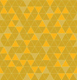 无缝的三角 美好的多角形纹理 几何黄色 库存例证