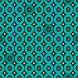无缝的与小野鸭圈子的传染媒介几何样式 向量例证