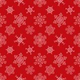 无缝的与拉长的圣诞节红色样式 免版税库存照片