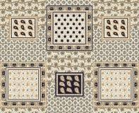 无缝的丝绸几何方形的背景 向量例证