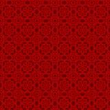 无缝的中国窗口网眼图案双重线的星花纹花样背景 皇族释放例证