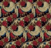 无缝的中国龙纹理 皇族释放例证