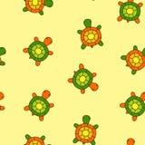 无缝的乌龟 免版税库存照片