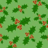 无缝的乱画圣诞节样式 动画片无边的背景 槲寄生 向量例证