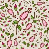 无缝的乱画花卉模式 库存照片
