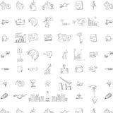 无缝的乱画企业样式 免版税图库摄影