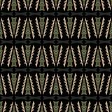 无缝的乱画传染媒介样式种族部族样式背景 免版税库存照片