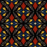 无缝的乱画传染媒介样式种族部族样式背景 库存照片