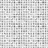 无缝的乱画公开标志样式 免版税库存图片