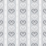 无缝的乱画心脏样式在单色背景中 库存照片