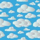 无缝的云彩天空 库存照片