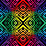 无缝的五颜六色和黑波浪线在中心相交 库存图片
