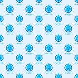 无缝的五颜六色的下落仿造背景传染媒介水蓝色自然雨珠摘要例证 免版税库存照片