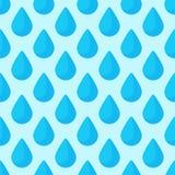 无缝的五颜六色的下落仿造背景传染媒介水蓝色自然雨珠摘要例证 免版税库存图片