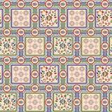无缝的五颜六色的丝绸几何设计样式 向量例证