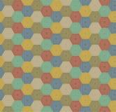 无缝的五颜六色的六角形样式 皇族释放例证