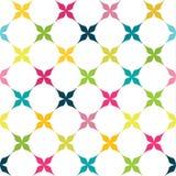 无缝的五颜六色的几何样式有白色背景 向量例证