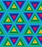 无缝的五颜六色的多角形样式 几何三角摘要样式 适用于纺织品,织品和包装 库存照片