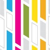 无缝的五颜六色的孟菲斯样式样式 库存例证