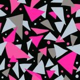 无缝的五颜六色的抽象减速火箭的背景 库存照片