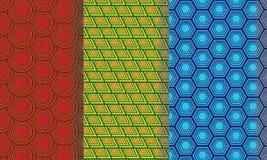 无缝的五颜六色的抽象样式样式Pack1 皇族释放例证
