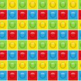 无缝的五颜六色的按钮样式背景 库存图片