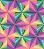 无缝的五颜六色的条纹 多角形样式 几何的彩虹 免版税库存图片