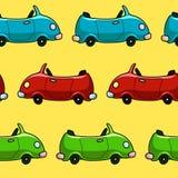 无缝的五颜六色的汽车样式 免版税库存照片