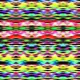 无缝的五颜六色的波浪之字形种族样式 库存图片