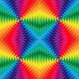 无缝的五颜六色的波浪线在中心相交 运动视觉幻觉  库存照片