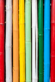 无缝的五颜六色的竹棍子条纹图形 免版税库存照片