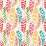 无缝的五颜六色的羽毛 免版税库存照片