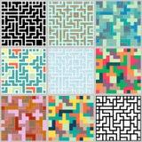 无缝的五颜六色的背景的汇集 免版税图库摄影