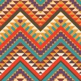 无缝的五颜六色的阿兹台克样式 库存例证