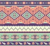 无缝的五颜六色的阿兹台克模式 库存图片