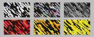 无缝的任意被环绕的对角条纹纹板背景模板设置了-抽象传染媒介小册子设计 库存图片